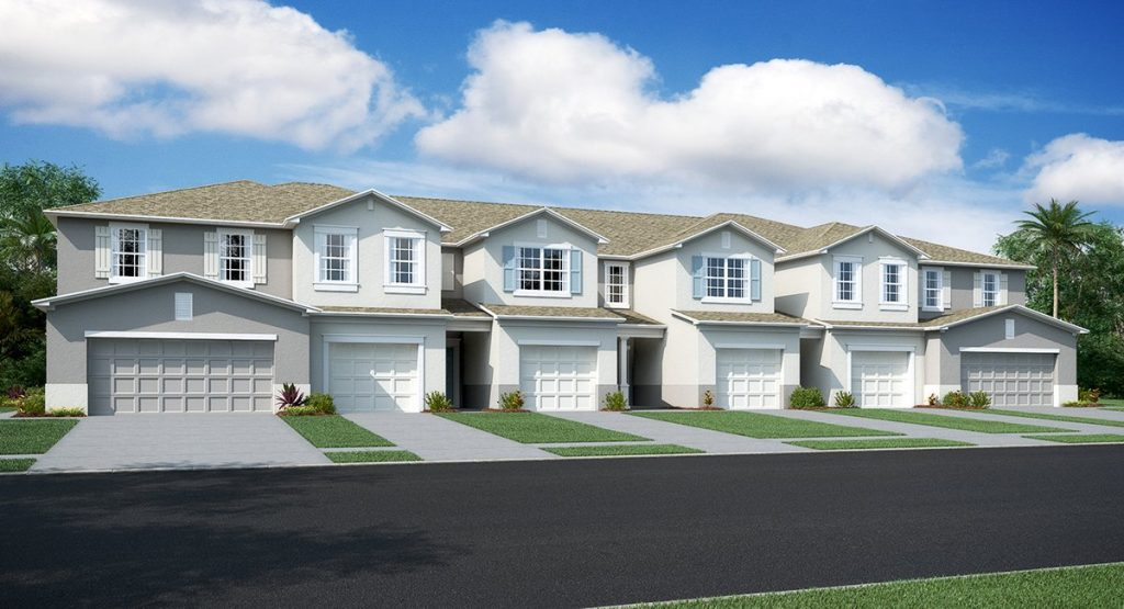 Tampa Florida New Town Homes Communities