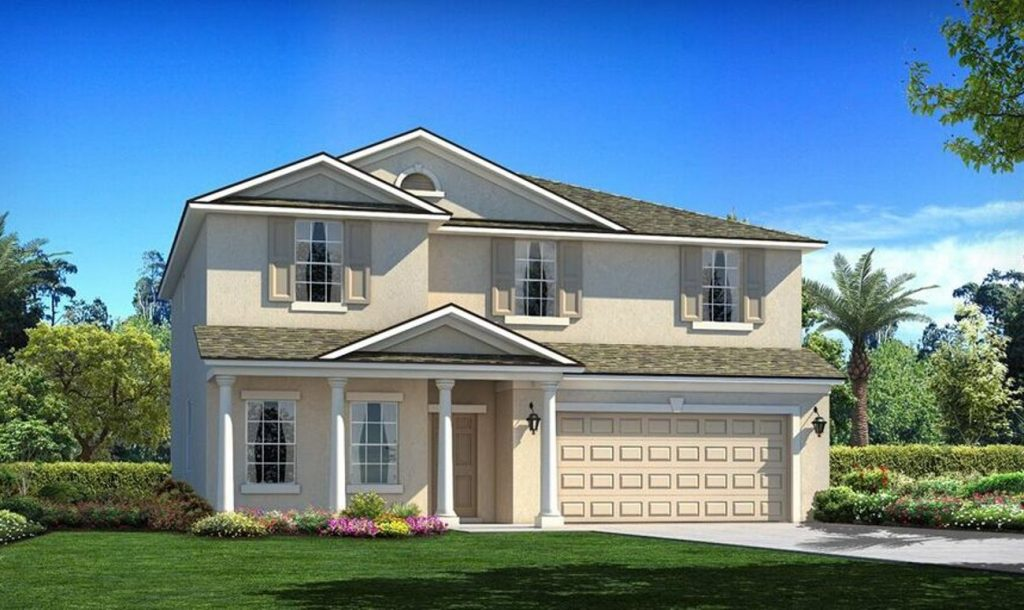 Southshore Bay Barrington C Milestone 4 Beds 2.5 Baths 2,913 SQ FT Wimauma Florida